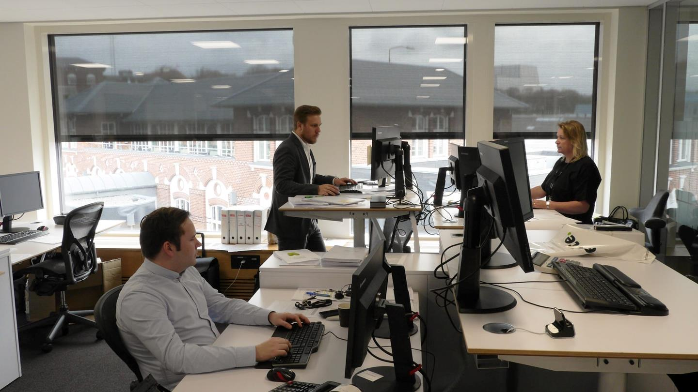 Accountants working in an office environment of Deloitte